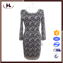 2016 Fashion new summer dress sexy deep V-neck latest lace dress designs for women party
