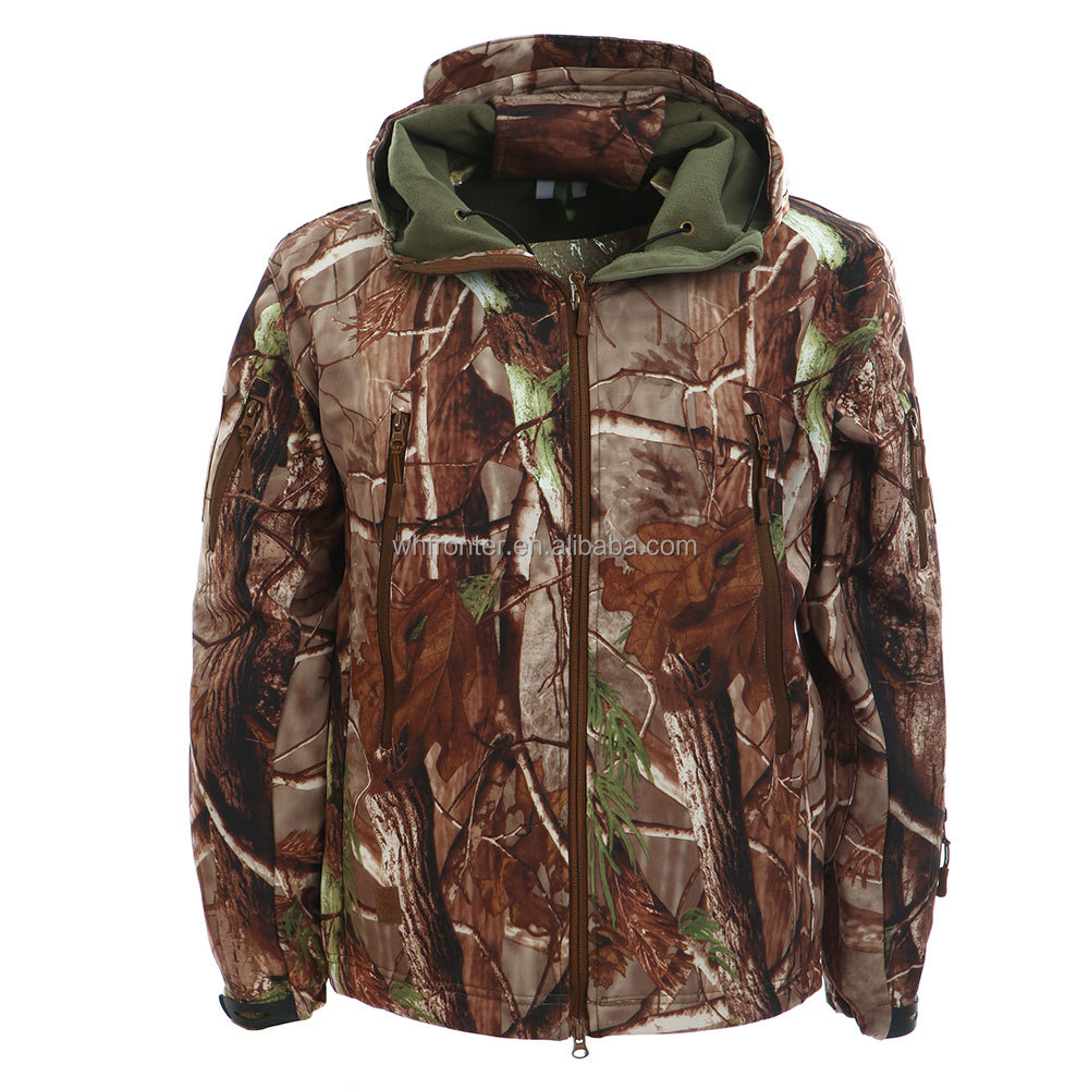 Custom military realtree camo softshell jacket