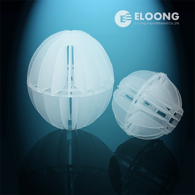 Plastic bio filer media polyhedral hollow ball