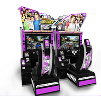 32 LCD vedio car racing electronic dart game machine arcade video coin operated driving car game machine