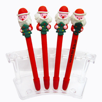 Christmas Father gift pen Polymer clay Christmas ball pen