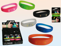 2016 new design silicone motion activated led bracelet,motion activated light up bracelet