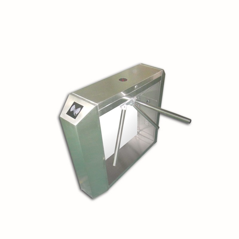 Stainless steel security passage rfid automatic vertical tripod turnstile gate