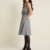 Discount Mid Black Checked A-line Plus Size Cheap Casual Dresses