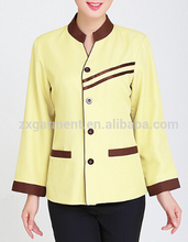 western style hotel house maid uniform bar staff uniform office cleaning service uniform for women
