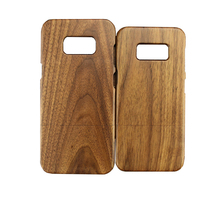 Mobile phone accessories factory in china real solid wooden phone case for samsung