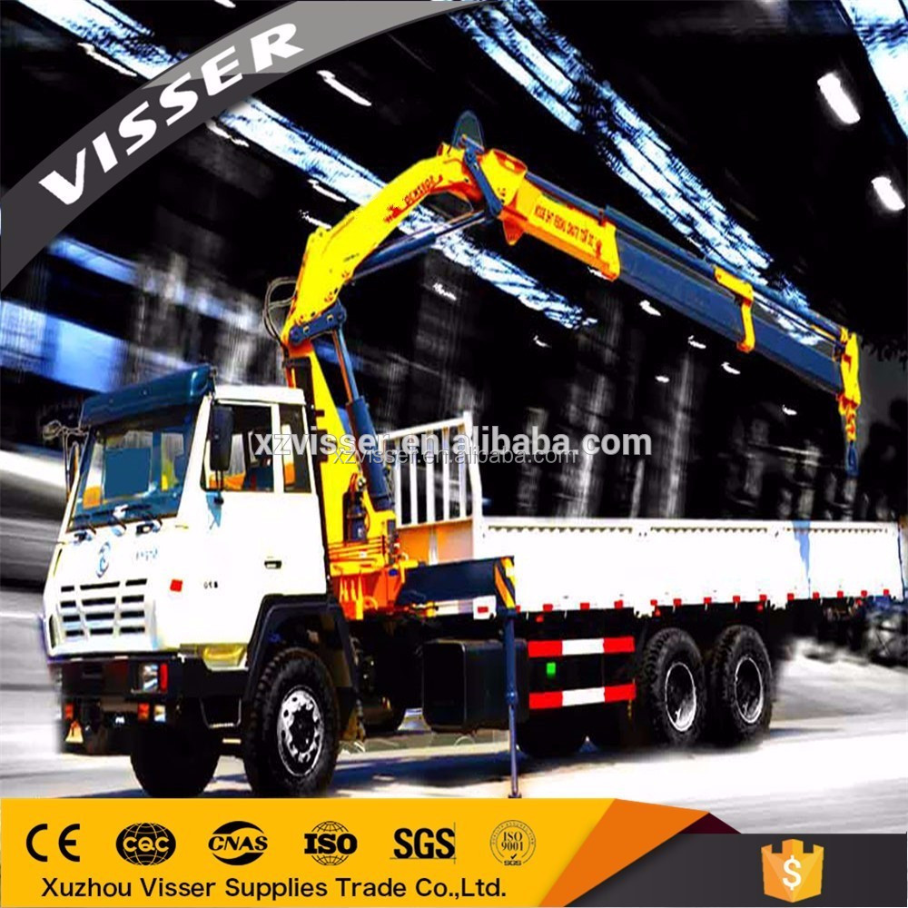 Good price foldable arm 8 ton truck mounted crane for sale