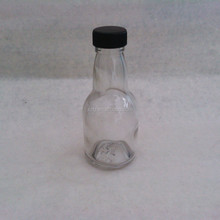 160ml clear Soju/wine/juice glass bottle with plastic screw cap