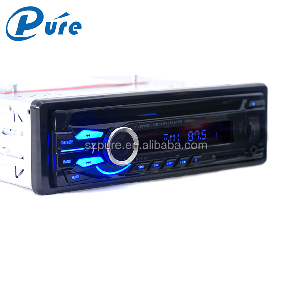 Fix panel Car 1 din car dvd vcd cd mp3 mp4 player with CD/DVD/USB/SD/WMA/MP3/MP4