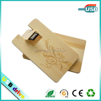 Customizable Engraved Logo Wood USB Flash Drive gifts
