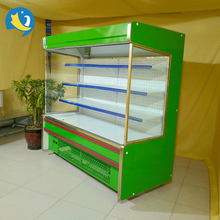 Trade Assurance CE approved supermarket plug-in front open air curtain chiller cabinet freezer for drinks and beverage