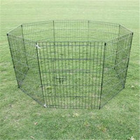 Heavy Duty Cage Pet Dog Cat Barrier Fence Metal Playpen Kennel