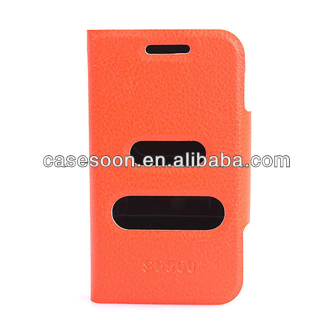 Leather case for SAMSUNG GALAXY MINI 2 S6500