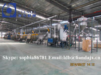 Plastic recycling machine, PET bottle recycling line