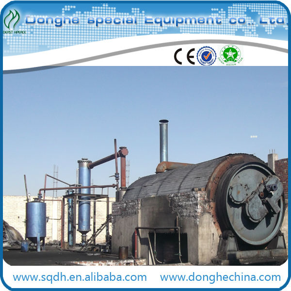 continuous used tyre/ rubber pyrolysis machine