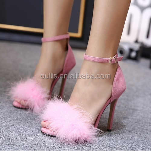 lady sexy shoes summer shoes high heel shoes pink 2017 PE4461