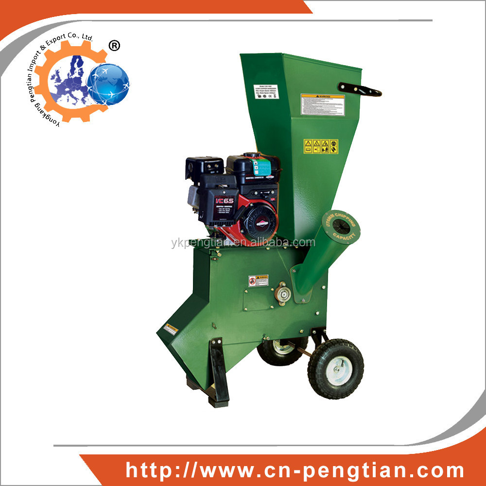 Hot sale Wood Chipper Machine, 6.5HP Garden Chipper Shredder with B&S Engine
