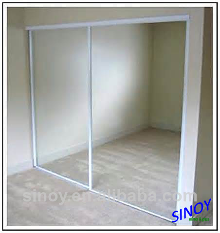 3mm 4mm SLIDING DOOR MIRROR with SAFETY VINYL BACK CATI , CATII, PE film