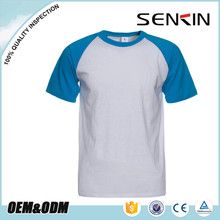 Manufacturers pure color custom cotton raglan sleeve free promotional t shirts