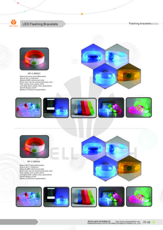 Led Bracelets Party Items Supplier Led Wristband Remote Control ...