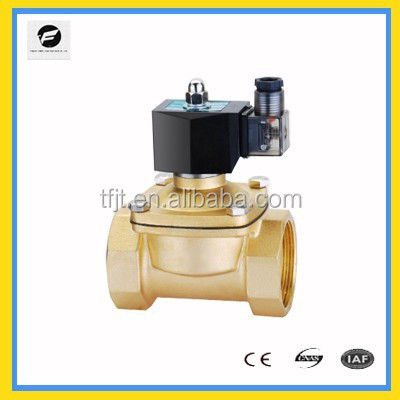 2W air condition electric operated solenoid valve brass 2 port water valve electric water diverter valve