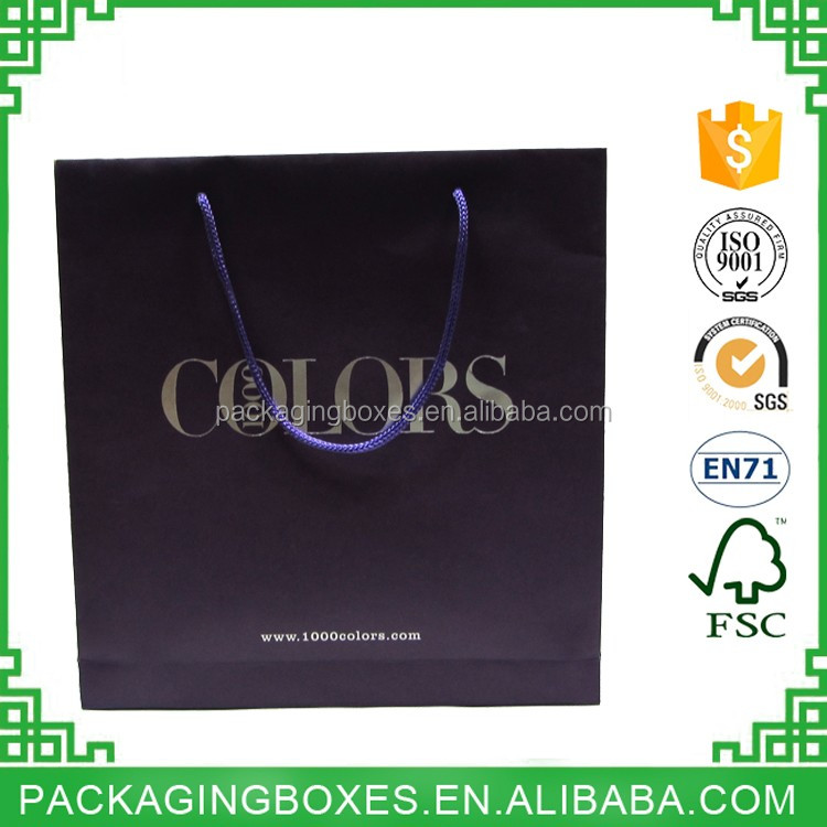 luxury paper carrier bag wholesale hot stamping paper gift bags with paper handle