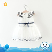 SD-1195G 2017 new children's dress girl little fairy style with invisible wings birthday princess dresses for girls