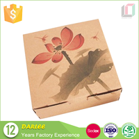 China supplier recyclable brown kraft paper gift box
