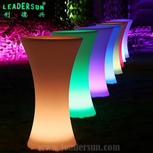 Modern lighted up 16color remore control wireless portable cocktail Bar KTV Cafe wedding led table