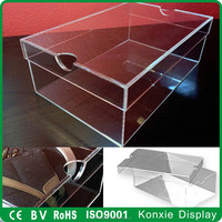clear acrylic shoe box origanal manufacture wholesale