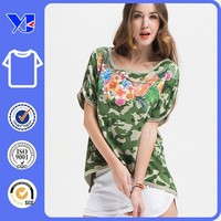new summer short-sleeved camouflage handsome T-shirt