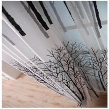 Luxury Polyester Cotton High Quality Tree Design Curtain