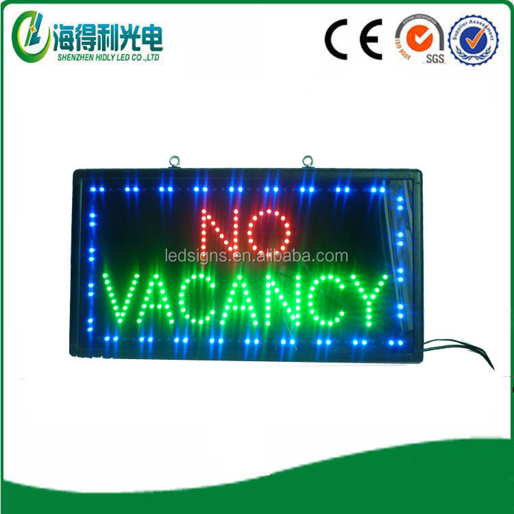 hidly factory make indoor led no vacancy signage led sign display