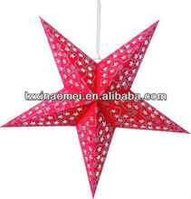 2012 new red christmas tree decorative paper star item SDZ-523