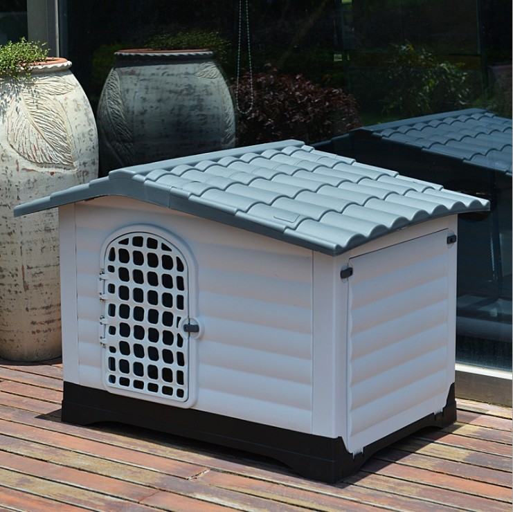 Hot explosion models big space plastic dog house outdoor indoor waterproof washable