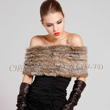 CX-B-26C Genuin Rabbit Fur Knitted Fashion Scarf