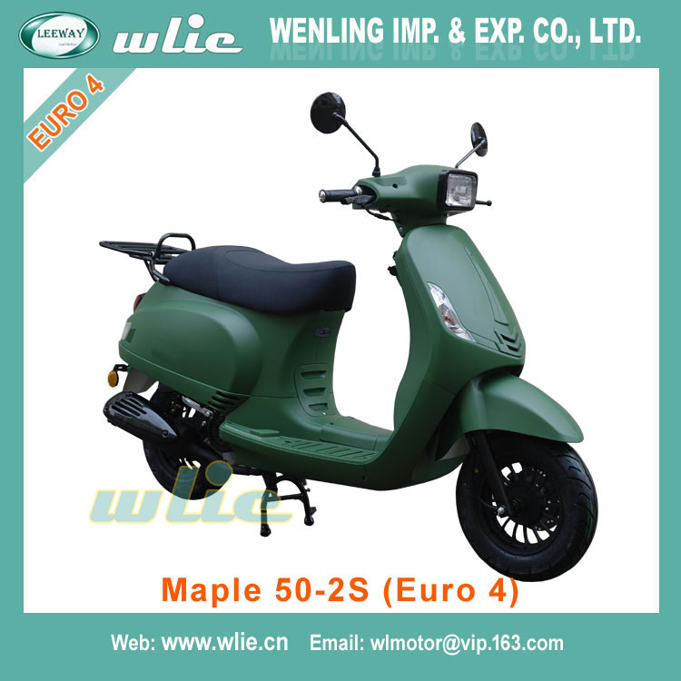 2018 New 25km/h and 45km/h 250cc or 300cc scooter wholesale gas patent 50cc 125cc 150cc in burma Maple-2S 50cc, (Euro 4)