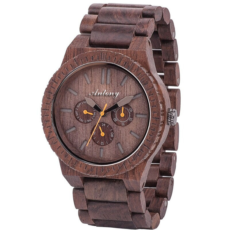 factory waterproof man brand wooden watches