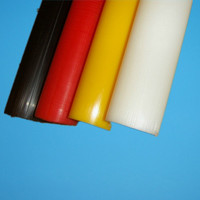 Solid Monomer 25mm yellow nylon round bar