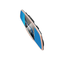 blue anti-glare mirror car multi camera dvr