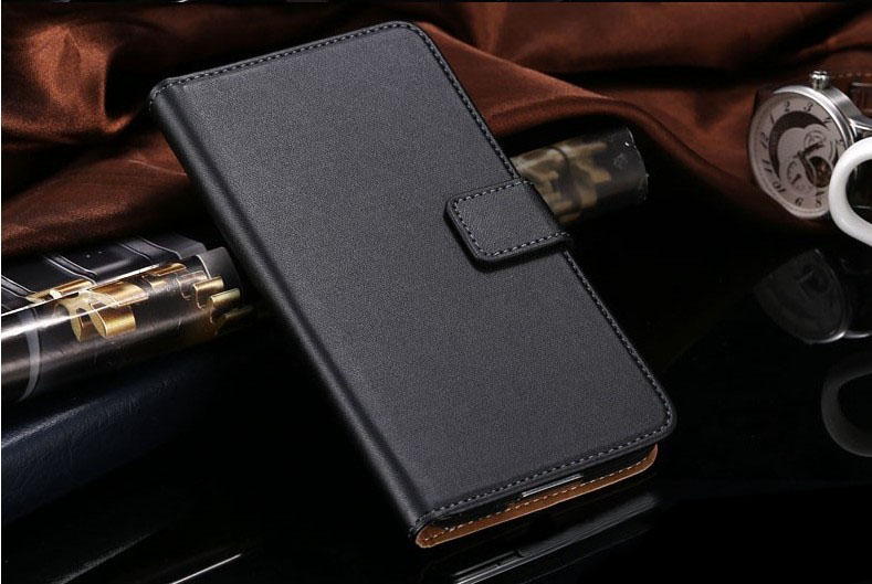 Luxury Genuine Real Leather Wallet Flip Stand Case Cover for Nokia Lumia 530--Laudtec