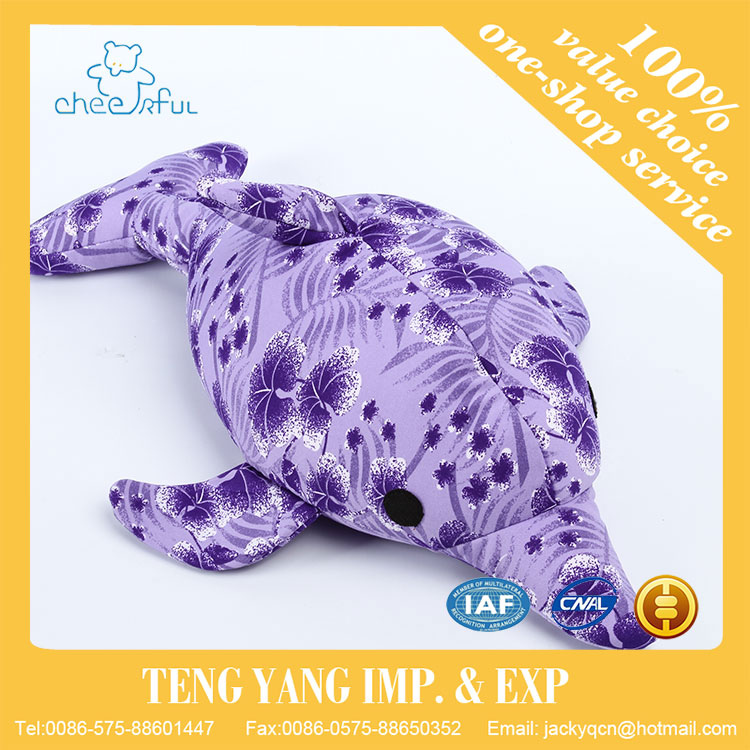 Alibaba China supplier Popular design stuffed plush purple color dolphin toy