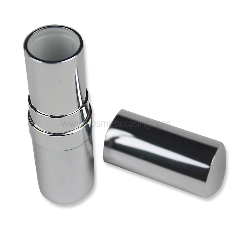 Luxury Lipstick tube, silver lipstick container, Empty lipstick case for cosmetics