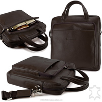 Genuine Leather handbag briefcase notebook bag