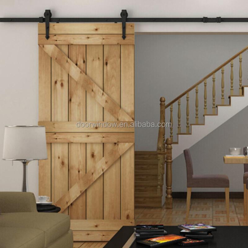 Hanging Sliding Barn Door With Wooden Sliding Door Roller   Buy Interior  Sliding Barn Doors,Sliding Shower Barn Door,Shower Barn Door Product On ...