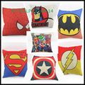 New Style Decorative, Sofa Car Catoon Comic Retro Cushion Linen Cotton Print Cartoon Cushion Cover Throw Pillow Case Cover