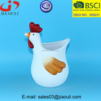 New EASTER decorations ceramic indoor planter flower pots, rooster figurines