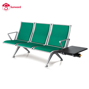 Manufacturer hospital lounge 3 seater with magazine USB charge table airport chair bench for waiting room