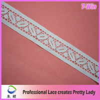 Manufacturer Fashion White Trim Lace/Hot Embroidered Bridal Lace Trim/New Guipure Embroidery Lace Trim