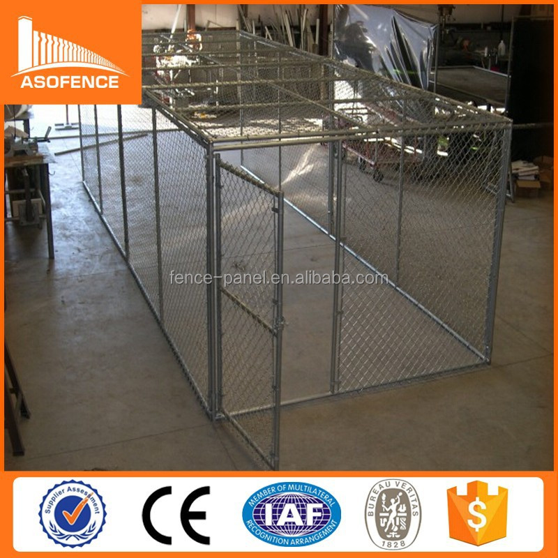 Heavy duty 10x10x6 galvanized large dog house with gate